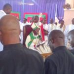 Bishop Okeke Ordains a Priest, 4 Deacons