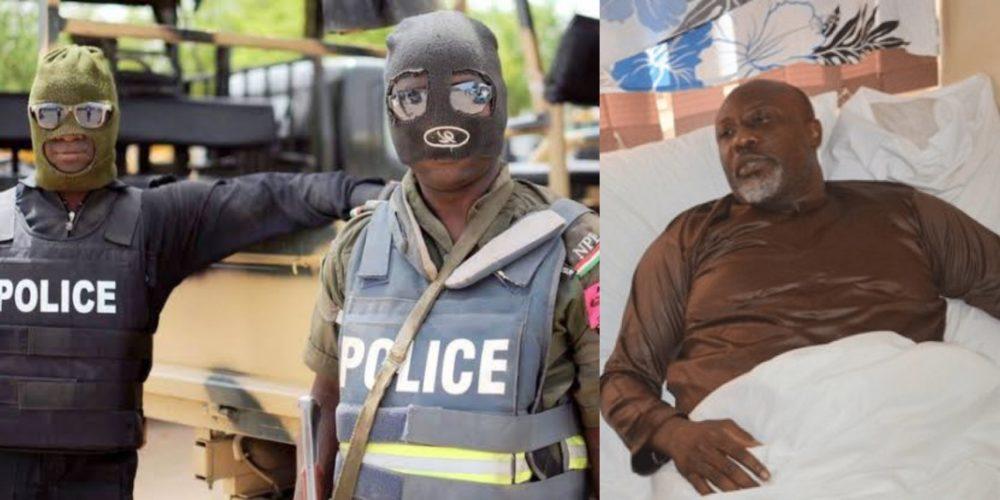 masked policeman