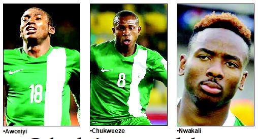 The super Eagle trio to hit Tunisia March 18