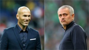 Zinedine Zidane and Jose Mourinho