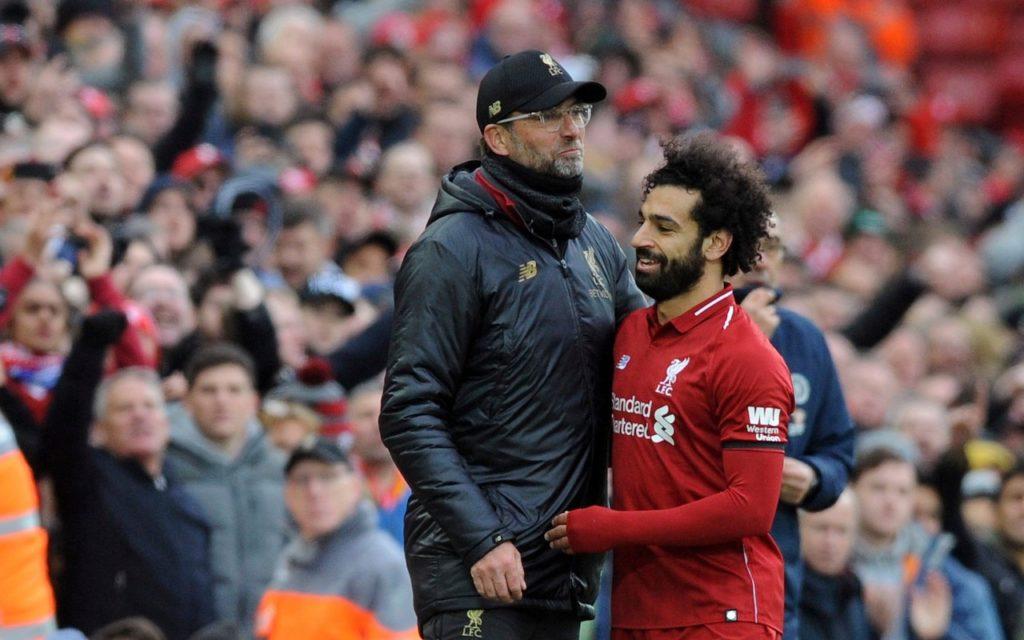 Liverpool manager  Jurgen Klopp and Salah