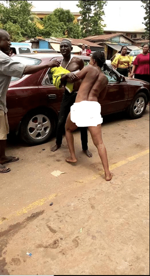 The sex worker   stripped totally naked to attack the man
