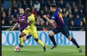 Chukwueze against Barcelona Players