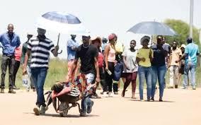 Pregnant women are taken to hospital in wheelbarrows