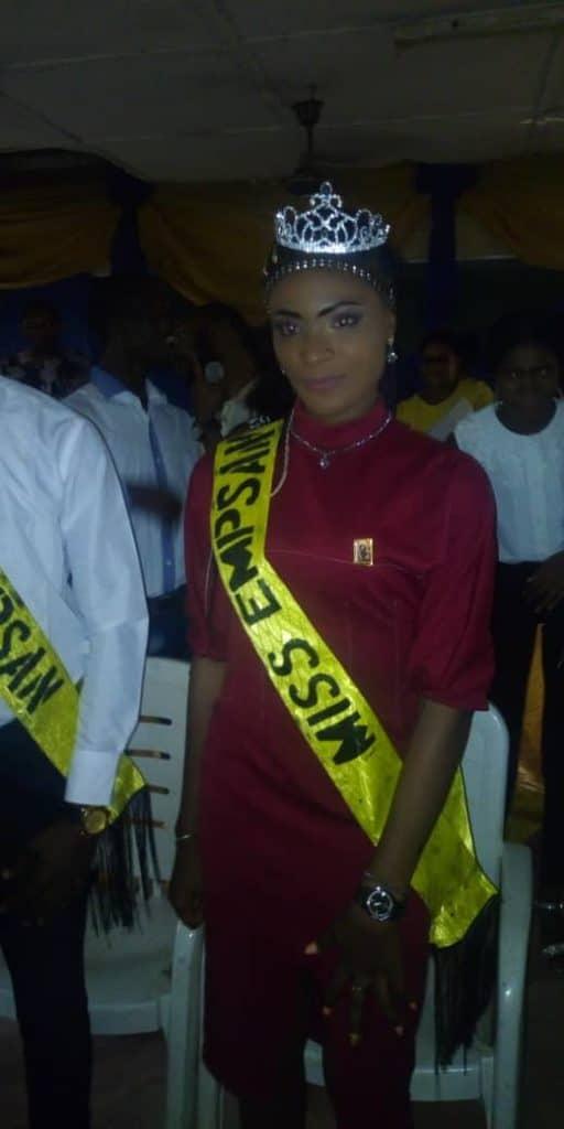 Miss EMPSAN 2018/ 2019. Ifeoma Rozita Ezeh