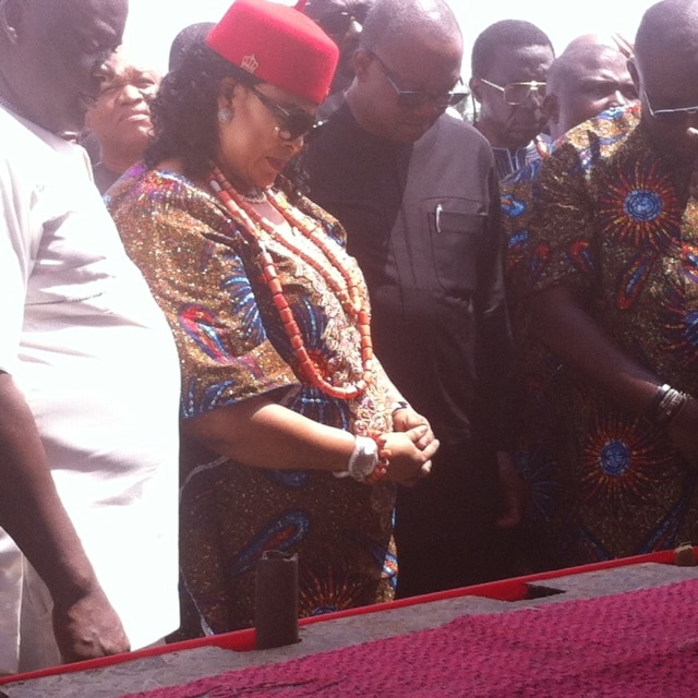 Stella Odua and other PDP chieftains during the thanksgiving service
