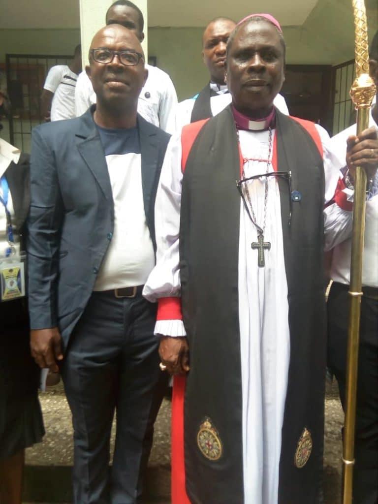 Mazi Akam and Archbishop Okpala