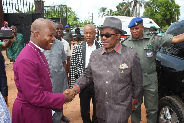 Bishop Ikeakor and Governor    Obiano