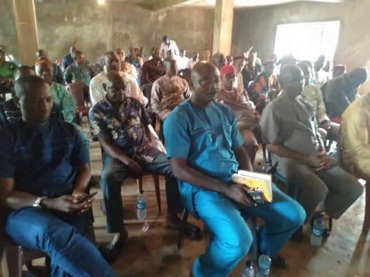 Over one hundred and fifty indigenes of the community were present at the meeting