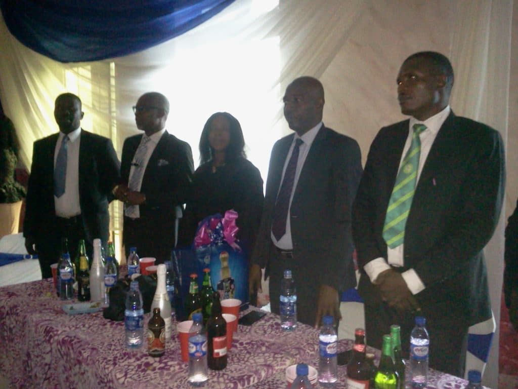 Pics:L-R: Hon Justice, Obi Nwabunike, Ijem Onwamaegbu, Mrs. Chioma Okoye Nba Chairmen& Exco Of Various Branches Some Ichies/Oba Court Compex Building Committee Members And Spouses