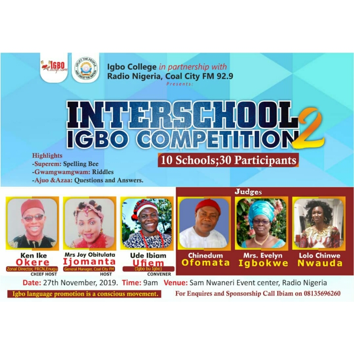 Interschool Igbo Competition
